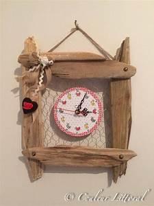 Bois Flotté Décoration Murale : horloge murale sur cadre bois flott bois flott 1 id es d co horloge murale cadre en bois ~ Melissatoandfro.com Idées de Décoration