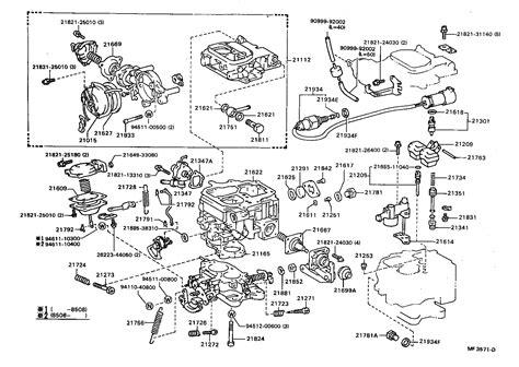 1989 Toyotum 22r Engine Diagram by Toyota 22r Carburetor Parts Diagram