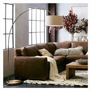 west elm west elm cfl overarching floor lamp antique With cfl overarching floor lamp antique brass natural