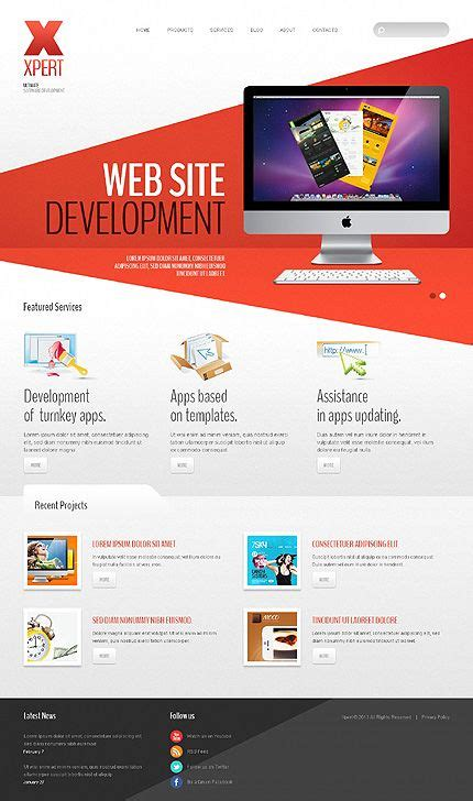 Web Design Templates Template 42980 Web Design Software Apps Joomla Bootstrap