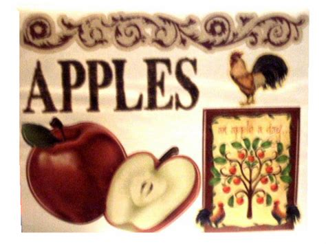 Apple Kitchen Decor Catalogs by Apples Roosters Wall Decals Country Kitchen Decor