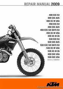 2009 Ktm Motorcycle Service Manual 400 450 530 Exc Xc