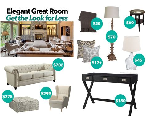 elegant great room   budget tufted sofas greige