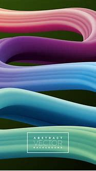 Abstract 3D Colorful Curve Line Background. Vector Liquid ...
