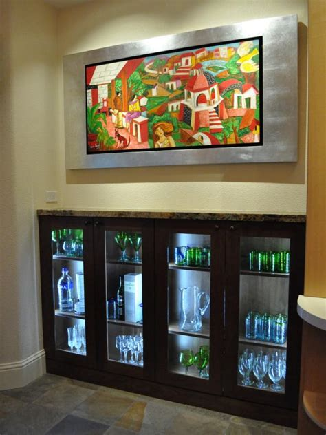 kitchen cabinet display how to light artwork diy 2474