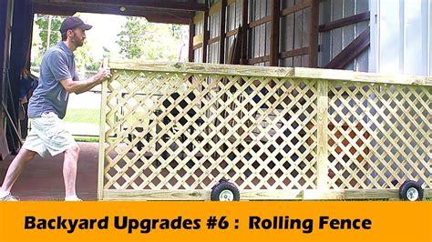 rolling fence gate diy backyard upgrades  youtube