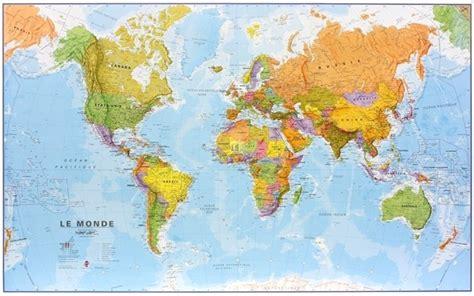 carte du monde murale maps international grande carte murale plastifi 233 e le monde en fran 231 ais au 1 20mio cartes
