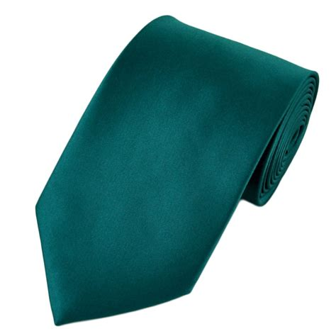Plain Teal Green Satin Tie From Ties Planet Uk