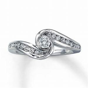 kay diamond engagement ring 3 8 ct tw round cut 14k With simple white gold wedding rings