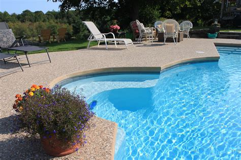 pool coping installation  compliment  hardscape