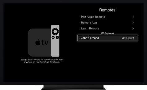 pair iphone with apple tv set up the apple tv remote app apple support