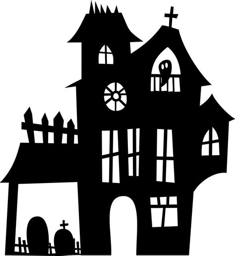 onlinelabels clip art haunted mansion silhouette