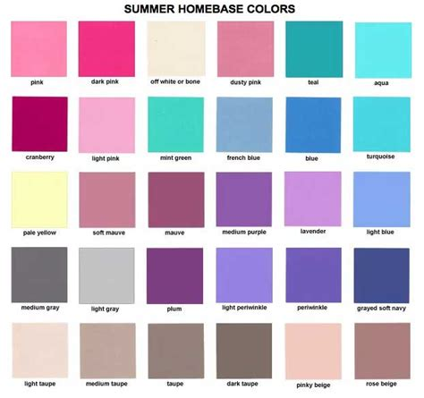 color types style begins at forty colours soft summer