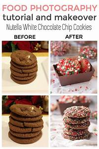 Photography Tutorial + Makeover: Nutella White Chocolate Chip Cookies | This Gal Cooks