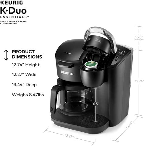 Any of the recommended keurig single cup coffee makers will offer all these features and so much more. Keurig K-Duo Essentials Coffee Maker, with Single Serve K-Cup Pod and 12 Cup Carafe Brewer ...