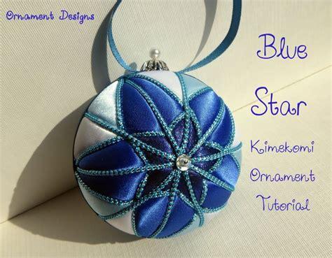 blue star no sew fabric christmas ornament tutorial i m