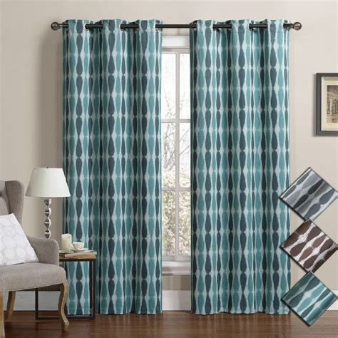 thermal blackout curtains mansoon woven jacquard insulated blackout curtain pair
