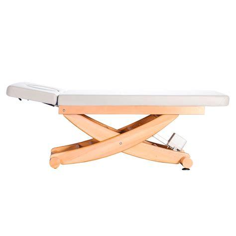 Sprühlack Weiß Für Holz by Holz Massageliege Mit Scherenhub Integriertes Kopfteil