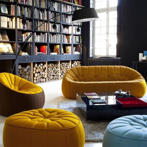 canapé pouf design canapé fauteuil pouf ottoman pour cinna par le designer