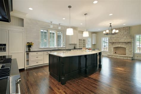 kitchen fireplace ideas 31 quot quot custom white kitchens with wood islands