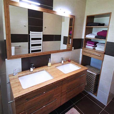 meuble salle de bain bois fonce maison design foofaq