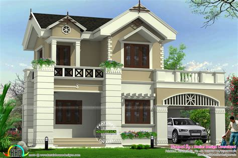 Cute Victorian Model Home  Kerala Home Design And Floor Plans