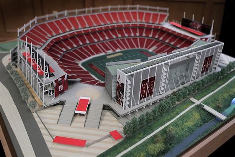 small step niners unveil stadium model sfgate