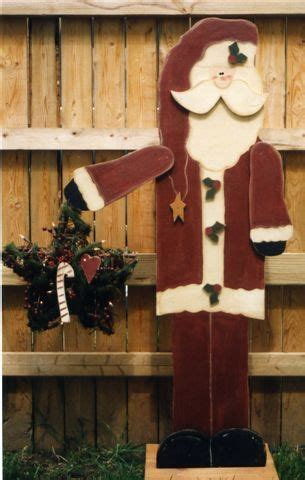 santa wood craft tall   porch christmas craft