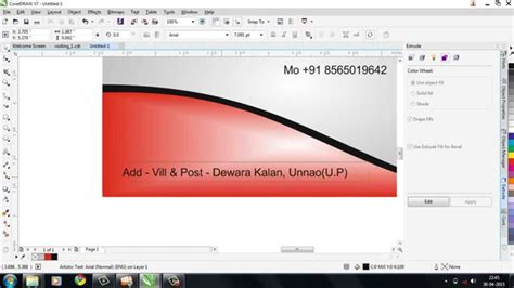 How To Design Visiting Cards Coreldraw Tutorials In Hindi