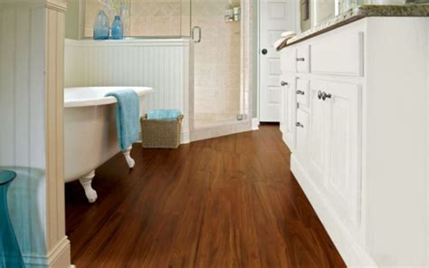Bathroom Laminate Flooring Compare Kitchen Sinks Hose Connection To Sink With Garbage Disposal How Drain Rugs Steel For Stand Alone Solid Surface
