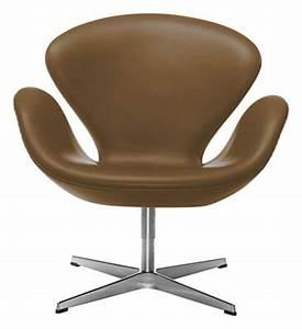 Fauteuil Pivotant Cuir : fauteuil pivotant swan chair cuir marron chrom ~ Teatrodelosmanantiales.com Idées de Décoration
