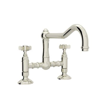 rohl country kitchen bridge faucet rohl a1459xpn 2 polished nickel country kitchen bridge 7790