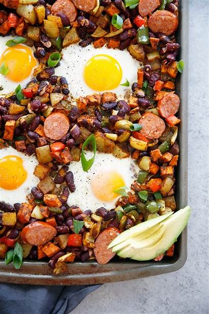 Egg Breakfast Pan Sheet Chorizo Bake Healthy