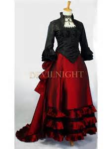 Red and Black Victorian Dresses
