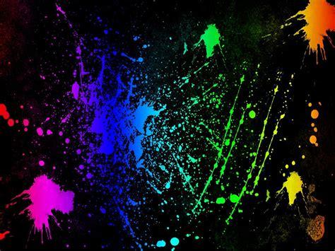 Splatter Abstract Color Wallpaper Pc Wallpaper