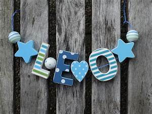 Buchstaben Deko Kinderzimmer : leo namenskette shabby chic holz buchstaben holzbuchstaben name kinderzimmer kinderzimmer ~ Orissabook.com Haus und Dekorationen