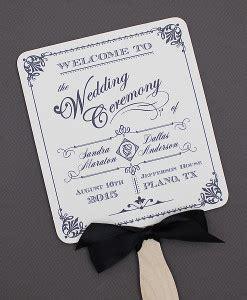 free wedding program fan fans print