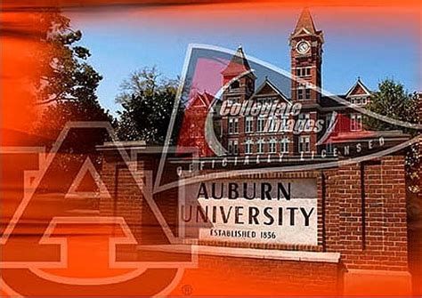 auburn university college campus art print poster