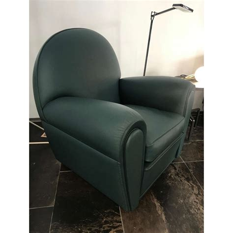 Poltrona Vanity Fair by Poltrona Frau Vanity Fair Green Armchair Outlet Desout