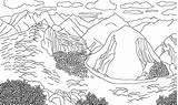 Coloring Mountains Andes Picchu Machu Mountain Range Colouring Designlooter Colorear Drawings Template 2506 96kb Imagen sketch template