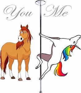Pole Unicorn Quot Me Unicorn You Pole Quot Stickers By ...