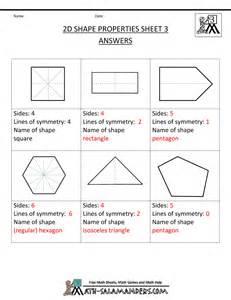 5th Grade Math Printable Shapes Worksheets