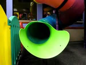 Chuck E Cheese Slide at Kyle's Birthday Party - YouTube