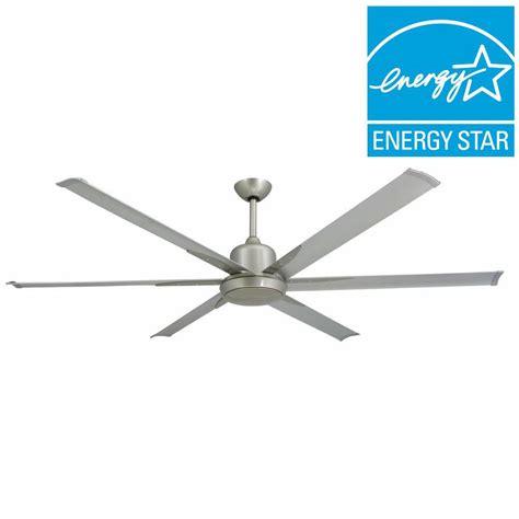 72 ceiling fan with light troposair titan 72 in indoor outdoor brushed nickel