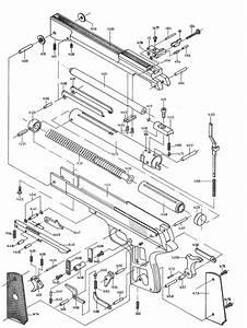 Product Schematics For Beeman P1 Air Pistol