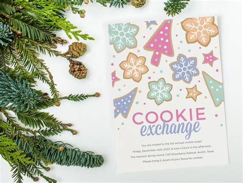 Cookie Invitation Template by Cookie Exchange Invitation Template Invitation Templates