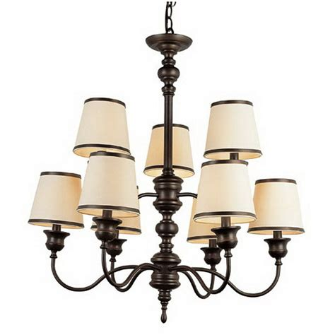 9 light chandelier rubbed bronze 9 light chandelier with shades ebay