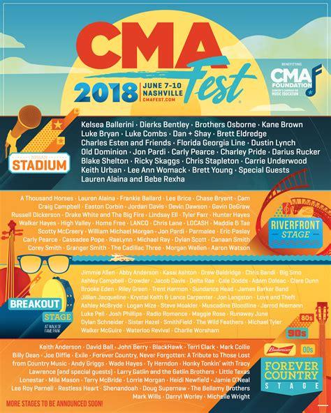 country fan fest 2017 lineup cma fest reveals 2018 performance lineup 2018 cma music