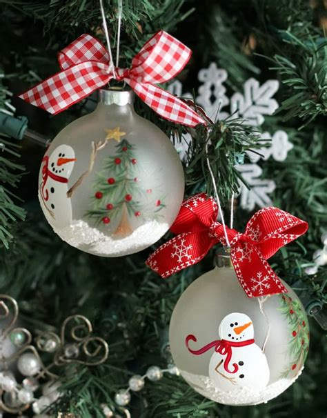 painted hand christmas trees snowman tree painted ornament