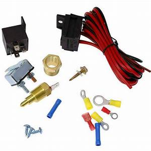 1pcs Electric Fan Wiring Install Kit Complete Thermostat